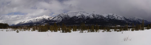 Canmore Panorama Royalty Free Stock Photography