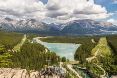 Canmore, Spary Lake from Grassi Royalty Free Stock Photo