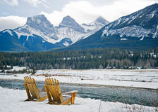 Canmore. Walk to beautiful Canmore, Alberta Stock Photography