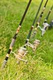Canna da pesca Fotografia Stock
