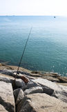 Canna da pesca Immagini Stock