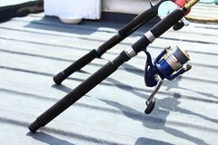 Canna da pesca Fotografie Stock Libere da Diritti