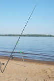 Canna da pesca fotografie stock