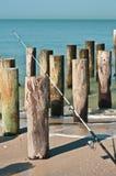 Canna da pesca della spuma Fotografia Stock