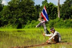 Canna da pesca di bambù Immagine Stock