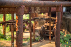 Canna da zucchero abbandonata distilleria fotografia stock