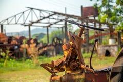 Canna da zucchero abbandonata distilleria fotografia stock libera da diritti