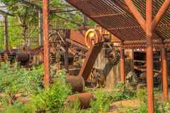 Canna da zucchero abbandonata distilleria immagine stock