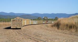 Canna da zucchero che raccoglie nel Queensland Fotografia Stock Libera da Diritti