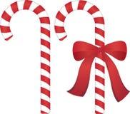 Canna di caramella di Natale Fotografia Stock