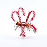 Canna di caramelle tradizionale di natale Fotografia Stock