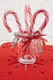 Canna di caramelle tradizionale di natale Immagini Stock Libere da Diritti
