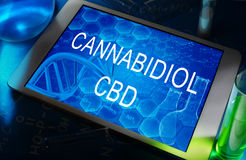 Cannabidiol (CBD) stock foto