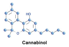 Cannabinol is a weak psychoactive cannabinoid Royalty Free Stock Photography