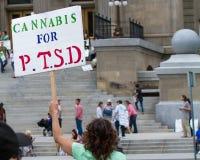 Cannabis använder för PTSD Royaltyfria Foton