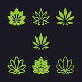 Cannabis as a collection stock illustration