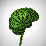 Cannabis Brain Medical Effects stock illustrationer