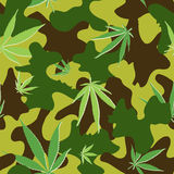 Cannabis Cammo. Seamless camouflage with cannabis leaves. EPS 8 illustration, with CMYK global colors Royalty Free Stock Photos