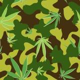 Cannabis Cammo Royalty Free Stock Photos