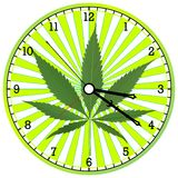 Cannabis clock Stock Photography