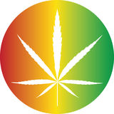 Cannabis color button. Cannabis reggae color icon button vector illustration Stock Photography