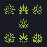 Cannabis come collezione Immagine Stock