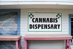 Cannabis dispensary sign Stock Photography