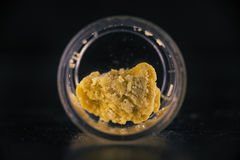 Cannabis extraction wax crumble isolated royalty free stock images