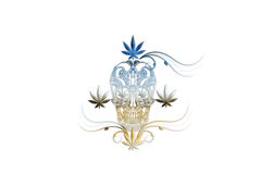 Cannabis Head Royalty Free Stock Images