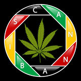 Cannabis icon-background Royalty Free Stock Image