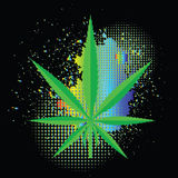 Cannabis icon Royalty Free Stock Photo