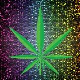 cannabis icon Royalty Free Stock Photos