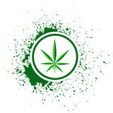 Cannabis icon Royalty Free Stock Photo