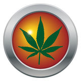 Cannabis Leaf Icon Royalty Free Stock Photography