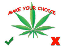 Cannabis leaf. Make your choice Stock Images