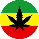 Cannabis leaf rasta icon Royalty Free Stock Image