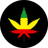 Cannabis leaf rasta icon. Vector illustration Royalty Free Stock Photo