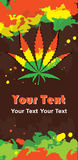 Cannabis leaf and rastafarian colors Royalty Free Stock Photos