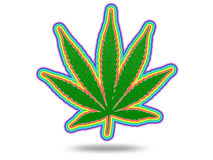 Cannabis Leaf with Spectrum. On White vector illustration