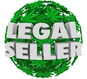 Cannabis licenciado do cultivador da marijuana do vendedor potenciômetro legal Fotografia de Stock