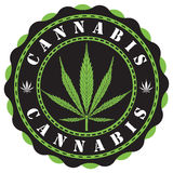Cannabis logo. Awesome cannabis logo vector illustration royalty free illustration