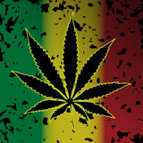 Cannabis-Marijuana. Illustration of cannabis as a symbol on abstract background Stock Images