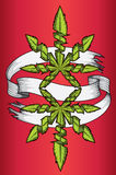 Cannabis marijuana ganja green leaf design advertising graphic Stock Photos