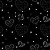 Cannabis marijuana and heart seamless pattern vector illustration