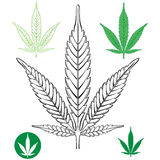 Cannabis Marijuana Leaf outline Royalty Free Stock Photography