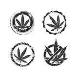 Cannabis, marijuana set. Vector Royalty Free Stock Image