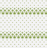 Cannabis marijuana weed leaf green silhouette seamless pattern t Royalty Free Stock Photos