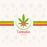 Cannabis medica Immagine Stock