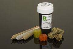 Cannabis. Medical Cannabis products comes in various forms Stock Image
