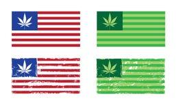 Cannabis Nation - USA Flags Stock Image